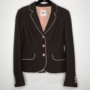 Moschino brown/pink equestrian style jacket